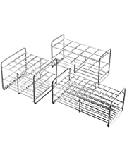 Stainless Steel Test Tube Rack,12 Holes,Outer Diameter Permitted of Tubes 39-41mm,Wire Constructed, 6x2 Format,Adamas-Beta