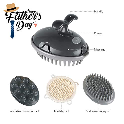MARNUR Scalp Massager Shampoo Brush Electric Massage Battery Operated with Vibration Massage for...