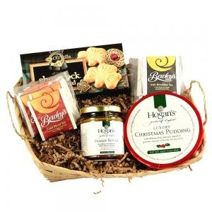 Christmas Plum Pudding and Brandy Butter New Years Gift Basket