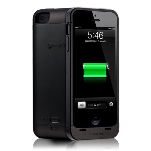 Chargefox Volpes Series Power Case for iPhone 5 (2000mAh) - BLACK- with screen protector by chargefox