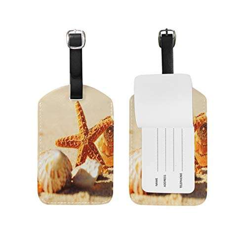 Luggage Tags Diversity Summer Beach Shells Travel ID Identifier for People ()