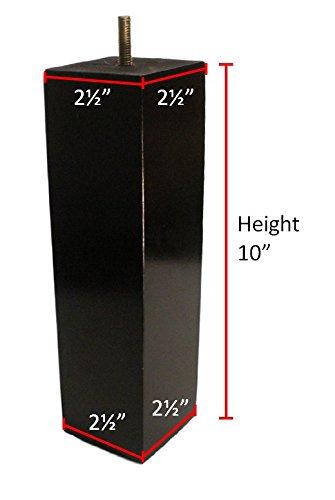 BingLTD 10'' Square Expresso Hardwood Sofa Legs - Set of 4 (ST2510-210-FBA) by BingLTD (Image #1)