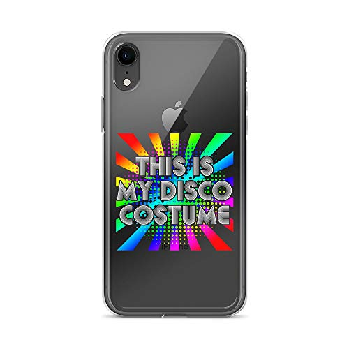 iPhone XR Pure Clear Case Crystal Clear Cases Cover This is My Disco Costume Party 70s 80s Transparent]()
