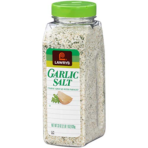 Lawry's Garlic Salt With Parsley, No MSG Seasoning, 33 oz