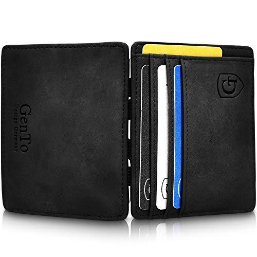 GenTo® Vegas Magic Wallet – Protección RFID – Billetera mágica – Billetera mágica con un Gran Compartimento para Monedas…