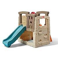 Step2 Naturally Playful Woodland Climber II   Kids Activity Climber Outdoor Playset, Brown & Blue