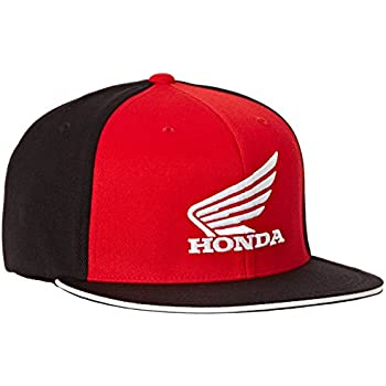 Factory Effex (15-88346) Honda Big Wing Flex-Fit Hat (Black/Red, Large/X-Large)