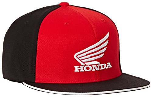 346) 'Honda' Big Wing Flex-Fit Hat (Black/Red, Large/X-Large) (Factory Wing)
