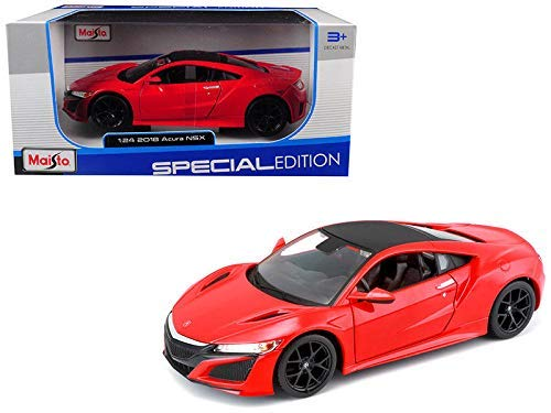 (DIECAST Toys CAR MAISTO 1:24 W/B - Special Edition - 2018 Acura NSX RED 31234RD)