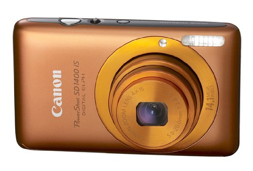 Canon PowerShot SD1400IS 14.1 MP Digital Camera with 4x Wide Angle Optical Image Stabilized Zoom and 2.7-Inch LCD (Orange)