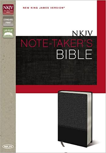 NKJV, Note-Taker's Bible, Imitation Leather, Gray, Red