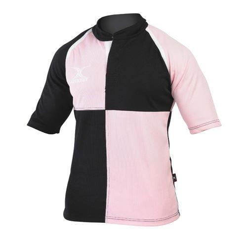 (Gilbert Xact Quarters Rugby Jersey (Pink/Black,)