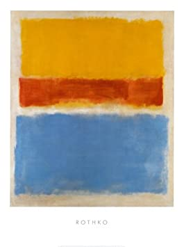 Untitled – Yellow, Red, Blue Art Poster Print by Mark Rothko, 24×32