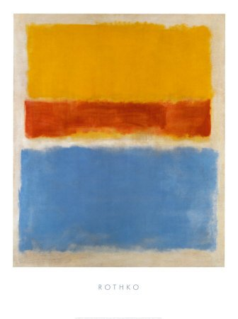 amazon com untitled yellow red blue art poster print by mark