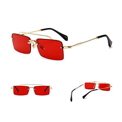 pour forme pour nuances nouveauté hommes plage de été la les lunettes designer Rouge protection étroite soleil Couleur conception conduite petit la Rouge femmes carré UV brillants vacances Vintage E7YwUqwdx