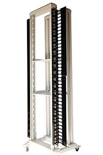 (Raising Electronics one Piece 42 U Vertical Plastic Cable Manager for Servers Racks Cabinets)
