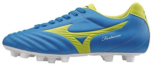 Mizuno - Mizuno Fortuna 4 MD Botas de futbol Azul Claro Cuero 158128 - Azul, 40