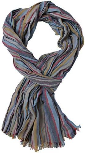 Bufanda de algodón Bufanda de mujer Bufanda de verano Bufanda de hombre pliegue gris claro 185 x 10 cm Hecho en Alemania: Amazon.es: Ropa y accesorios