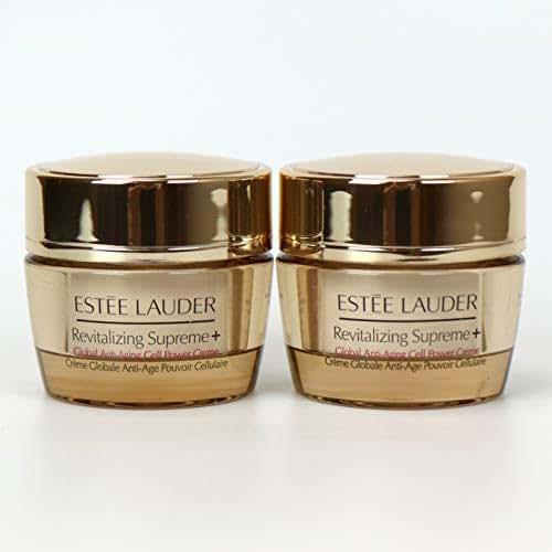 Lot 2 x Estee Lauder Revitalizing Supreme+ Global Anti-Aging Cell Power Creme 0.5 oz / 15 ml each, 1 oz / 30 ml total