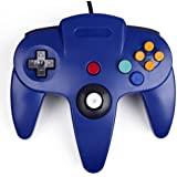 HDE Classic Wired Long Handle Gaming Controller for Nintendo 64 N64 Game Console (Blue)