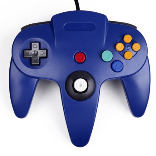 HDE Replacement Nintendo 64 Controller Wired Gamepad for Original N64 Game Consoles (Blue)