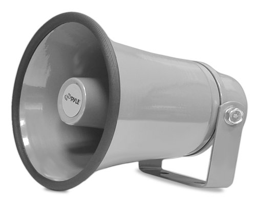 """Indoor/Outdoor PA Horn Speaker - 8.1"""" Portable PA Speaker with 8 Ohms Impedance & 50 Watts Peak Power - Mounting Bracket & Hardware Included - Pyle PHSP8K"""