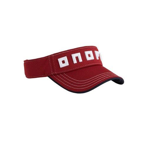 ONOFF(オノフ) onoff equipment サンバイザー ダークレッド×ホワイト フリーサイズ YOK0318-614