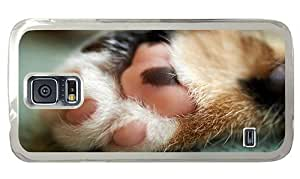 Hipster Samsung Galaxy S5 Case popular cover cute cat paw PC Transparent for Samsung S5