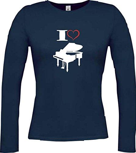 Shirtstown - Camiseta de manga larga - Manga Larga - para mujer Azul