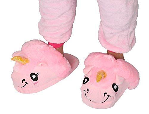 Peluche Pantofole Rosa Unicorno Cosplay Festa Regali Unisex Magico Taglia Halloween adulto Animali Di rAtwA6Tx