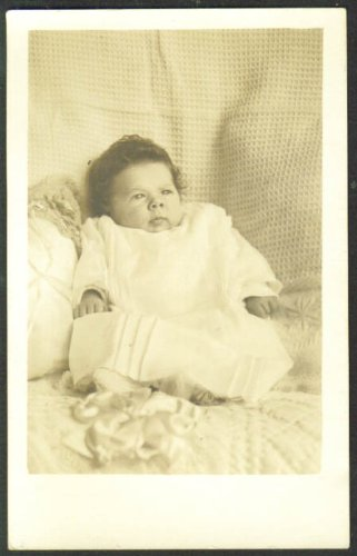 Jimmie Earlene Brady 1 month old RPPC postcard 1910s