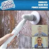 Turbo Scrub 360 - Cordless and Rechargeable - The Perfect Floor Scrubbing Tool For Any Cleaning Job