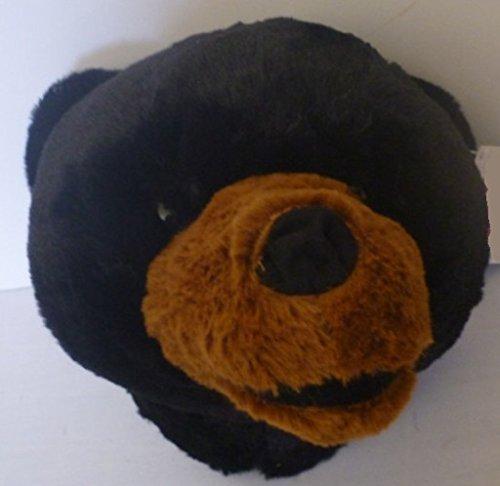 Plush Black Bear Stuffed Animal Wall Mountable Bear Head 7.5 Stuffed Animal House