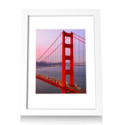 BOJIN A4 Picture Frames White Made to Display 6x8 Frames Document with Wooden Photo Frame Diploma and Certificate Frame for Wall Hanging Home Decoration
