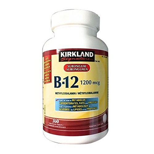 Kirkland Signature Vitamin B12, 1200mcg, 360 tablets