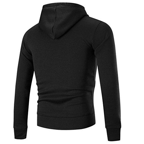 Black Long Patchwork Blouse Sleeve Retro Hooded Style Coats Cardigans Classic Design Cotton FdG Blend Stitching Zipper Tops amp; Jackets FriendG Coat Sweatshirt Men's Overcoat Fit Outerwear Jacket Hoodie Slim fxOzqa