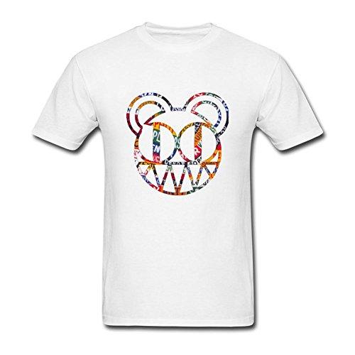 Men's Creative DIY Avatar Logo T-Shirt White XL