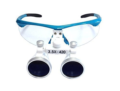 Dental Surgical 102 Series Binocular Aluminium Frame Magnifier 3.5X420mm Blue