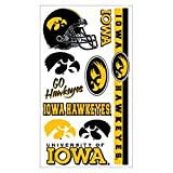 IOWA HAWKEYES OFFICIAL LOGO TATOO SHEET