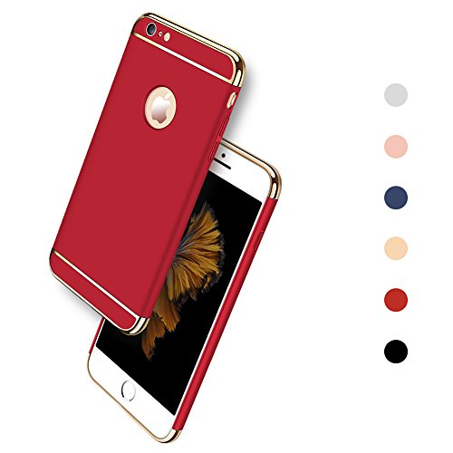 iPhone 6 Plus / 6S Plus Case, Ultra Slim & Rugged Fit Shock Drop Proof Impact Resist Hard Protective Back Cover for Apple iPhone 6 Plus / 6S Plus(5.5 Inch) - Red