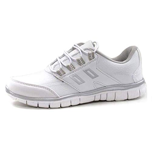 Shock Trainer Shoes Gym Absorbing Womens Shoe Trainers White Ladies Fitness Running ax5wZq