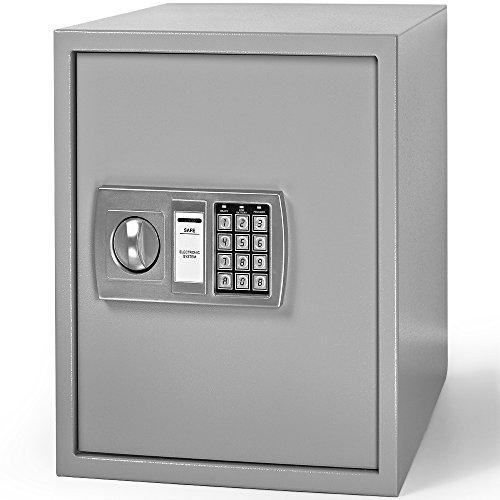 Deuba Digital Safe 56L Solid Steel Construction Security Safe for Jewelry,...