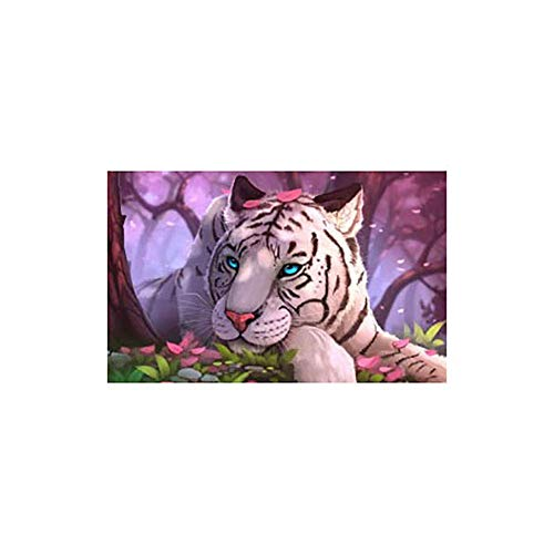 (37-Niuyongmaoyi DIY 5D Diamond Painting by Number Kit,Partial Drill Tiger Horse Seaside Rhinestone Embroidery Cross Stitch Supply Arts Craft Canvas Wall Decor (Color : T020) )