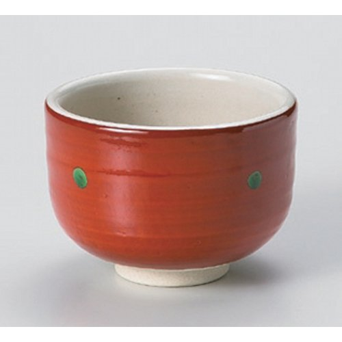 Matcha bowl Nodate Akamaki mini tea bowl [10.3 x 7.7cm] strengthening Japanese instrument Liquor restaurant for hotel business by Crockery Honpo