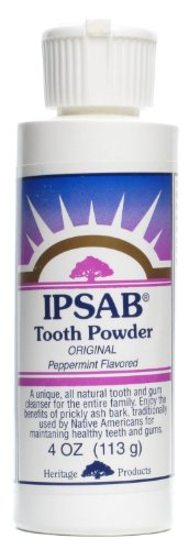 Heritage Store IPSAB Tooth Powder Natural Peppermint 4 oz 113 - Tooth Ipsab Heritage Powder