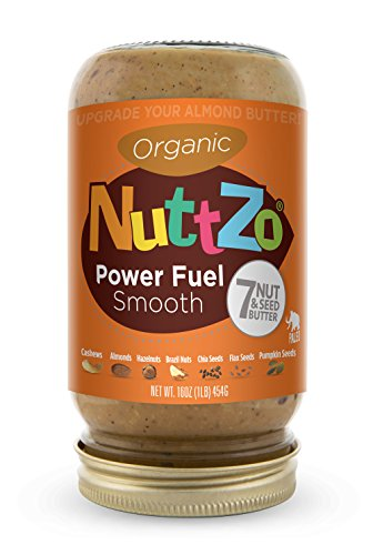Almond Cashew Butter (Nuttzo Organic Smooth Power Fuel Seven Nut and Seed Butter, 16 oz)