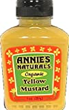 Annie'S Naturals Organic Yellow Mustard ( 9 OZ) (Pack of 60)