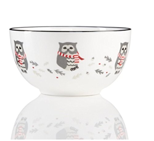 Martha Stewart Collection Pups & Plaids Owl Cereal Bowl (Plaid Owl)