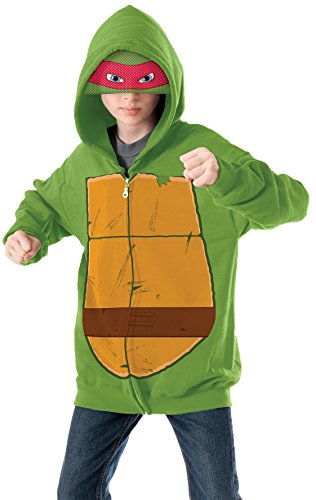 Teenage Mutant Ninja Turtles Raphael Hoodie Costume, Medium (Teenage Mutant Ninja Turtle Raphael Adult Mask)