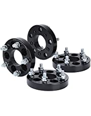 "(1"") 25mm KSP 5X100 to 5x114.3 Lug Centric Wheel Adapters, 1"" M12x1.5 Lug Studs 64.1mm Hub Bore Forged Lug Centric Spacers"